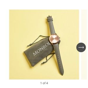 Monique Classique Rose Gold Genuine Leather Watch